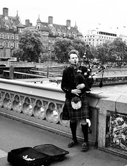 London Bagpiper