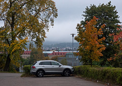Autumn Morning (Linnea from Sweden) Tags: autumn morning city urban nature nikon d7000 ed afs nikkor 70300mm 14556g vr if swm car building tree landscape