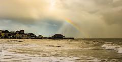 High tide Viking bay 211017 (philbarnes4) Tags: broadstairs thanet kent england dslr philbarnes view rainbow autumn coast pier