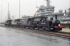 Overlord+50 : B4 Normandy shunting in So'ton E Docks, 4 June 1994 (Ian D Nolan) Tags: railway southamptondocks 35mm epsonperfectionv750scanner dday om40 b4 96 lswr 040t servicestock