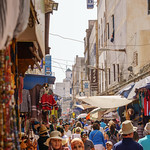 Essaouira street hustle and bustle