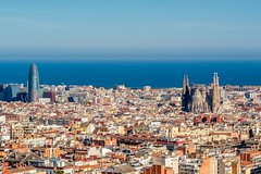 Barcelona cityscape overlook (altextravel) Tags: barcelona spain catalonia city view urban cityscape overlook travel architecture europe nobody tourism landmark building town sky landscape famous parkguell sagradafamilia agbar tower