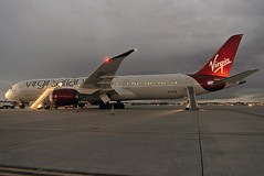 G-VZIG virgin atlantic 787-9 at KCLE (GeorgeM757) Tags: gvzig virginatlantic 7879 aircraft alltypesoftransport airplane aviation boeing georgem757 kcle clevelandhopkins clevelandbrowns nightairplane