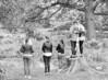 LOOKING FOR DEER, BRADGATE PARK, LEICESTER_DSC_6743_LR_2.0 (Roger Perriss) Tags: nikonowners nikonusersgroup bradgate countrypark d750 blackandwhite girls looking woods deer treestump jeans jackets tighttrousers lookingfordeer standing forest wood thought ponder thinking considering bradgatepark undergrowth braken bracken
