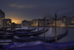 Venetian paths 57(Da punta della dogana) (Maurizio51( nonno ter)) Tags: night nightcity venezia venice longexposure sunset sky colors atmosphere city cityscape gondola lights italia italy travel