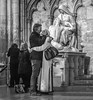 Love (John St John Photography) Tags: stpatrickscathedral streetphotography candidphotography man woman embrace affection love lovers women kneeling praying jesus mary statue pieta fifthavenue newyorkcity newyork bw blackandwhite blackwhite blackwhitephotos