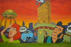 OMG (radargeek) Tags: waco tx texas mural art driving omg alien vw beetle