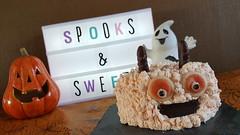 Monster cake (Claire Coopmans) Tags: creme chantilly monster cake gateau cacao zèbré orange patisserie belgique belgium halloween confiture