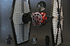 Tie Fighter Ready (Luke Y.) Tags: ribbet starwars theforceawakens tiefighter empire stormtroopers legos toys scene
