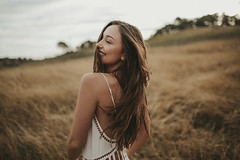 fields by Julia Trotti - Yesterday afternoon with Kristina