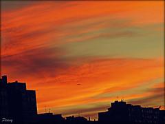 Ribera naranja (peavy30) Tags: atardecer sunset zaragoza ebro octubre cielo sky