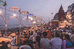 Varanasi - Ghats - Ganga Aarti prayer
