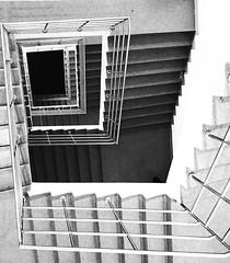U P S / D O W N S (NadzNidzPhotography) Tags: nadznidzphotography stairs stairway staircase blackandwhite blackandwhitephotography black white shadows highlights