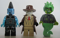 Zig Zag, Mr. Blight, The Ooze (Quickblade22) Tags: superheroes superpowers supervillains comics comicbook custom capemadness
