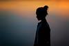 that was her magic.... (fehlfarben_bine) Tags: nikondf nikon85mmf14 portrait sunset lake silhouette mood profile berlin woman