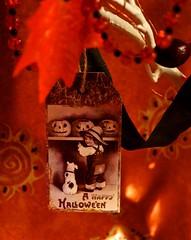 "Happy Halloween (GATACA1952) Tags: halloween hallowe'en indoor ""homedecor"" decorations ornaments card victorian vintage tag child dog"