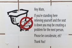 Avoid conflict.  Pee in the sink. (twm1340) Tags: sunset point rest area restroom toilet public sign arizona az