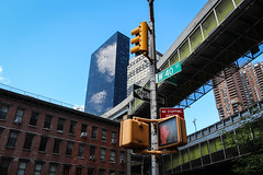 40th & 9th. (Livia Lopez) Tags: canon newyorkcity nyc newyork manhattan portauthority street sign sky photography city ciudad cielo arquitectura calle fotografia edificio rascacielos