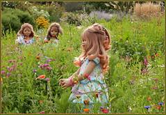 Blumenwiese ... (Kindergartenkinder) Tags: gruga essen wiese kindergartenkinder annette himstedt dolls annemoni milina tivi grugapark