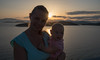 Motherhood (free3yourmind) Tags: motherhood mother baby girl sunset sea clouds cloudy day greece travel family happy happiness moment