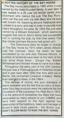 Church Rd Bay Horse 1860 Its History - Article Loaned By Jack Dickinson 10th Oct 2017 (Formby Civic Society) Tags: formby merseyside churchroad bayhorse pub publichouse pubfood dickinson