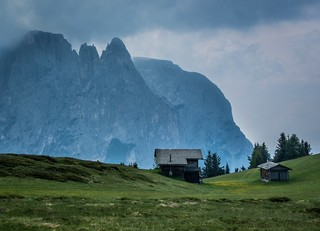 Storm rolling in. Seiser Alm, Trentino - Alto Adige Italy