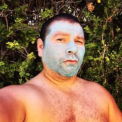 IMG_5950 (danimaniacs) Tags: shirtless man guy male mud mask selfportrait beard scruff palmsprings