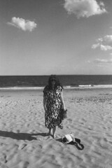 Under pavements, the beach (Magnus Bergström) Tags: 123bw city york new newyorkcity nyc united states america usa unitedstates streetphotography street monochrome canon ae1 kodak bw400cn expired 135 film 35mm analog bw kodakbw400cn blackandwhite blackwhite black white brooklyn coney island amusement park beach woman portrait bathing sunbathing swimming coast sand water ocean idanil00