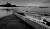 divided (Wanda Amos@Old Bar) Tags: focusgroup forster monochrome wandaamos blackandwhite blur oceanpool sea sunrise water sky ocean divide wall seawall