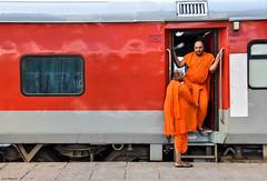 India 12 (bananacake1000) Tags: india indianrailways streetphotography candid monks travel nikon photojournalism