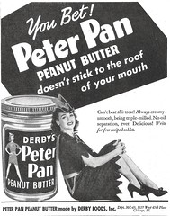 Derby's Peter Pan, 1943 (STUDIOZ7) Tags: peterpan peanutbutter ad advertisement woman girl 1940s 40s forties wwii derby swift highheels chicago