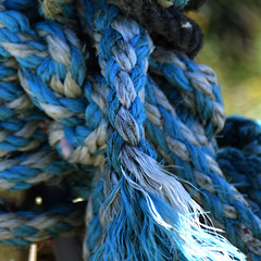 Links (YIP2) Tags: blue greenish rope knot abstract minimal minimalism simple less line detail lines link linked thread finds pattern turquoise