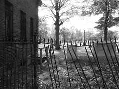 ( Don't fence them in ... they'll find a way to get out ) (Wandering Dom) Tags: stpaul cemetery graves dead life existence reality dreams being nothingness broken decay metal fence