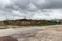 Aliens Exist (Number Johnny 5) Tags: lines tamron d750 nikon decay space streetart blue urban great angles art road double yarmouth sky green wall yellow documenting 2470mm grafitti