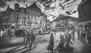 Artistic impression of street view