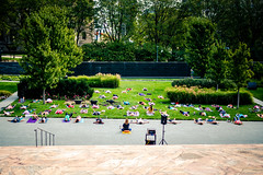 Yoga in the garden (rg69olds) Tags: 09242017 50mm 6d nebraska sigma50mmf14artdghsm art canon canoneos6d flower joslynartmuseum omaha plant plants sigma yoga garden people relaxing 50mmf14dghsm|a