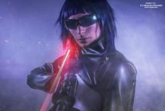 GITS_DSC0223,3laserMotoko (Yohann Franco) Tags: cosplay ghost shell light lather costume cyberpunk gun dark interface laser future action blue