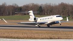 Gulfstream G650 UTAIR CARGO RA-10205 6114 Mulhouse décembre 2015 (Thibaud.S.Photographie) Tags: avion gulfstream g650 utair cargo ra10205 6114 mulhouse décembre 2015 jet
