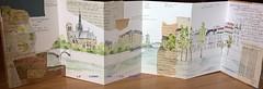 Carnet ouvert. Le long de la Seine. (couleur.indigo) Tags: aquarelle accordéon carnet croquis architecture feutre paris paysagesurbains