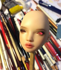 Nicole, work in progress (InspireDoll) Tags: nicole doll dolls inspiredoll inspiredolls beauty bjd ball jointed porcelain dollporcelain balljointed art artist sculpt figure handmade zbrush 3d 3dmax modeling face шарнирная кукла resin resindoll people portrait smoky eyes