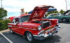 1957 Chevy Bel Air (Chad Horwedel) Tags: 1957chevybelair chevybelair chevrolet chevy belair classic car wheelsforacausecarshow2017 texasroadhouse joliet illinois