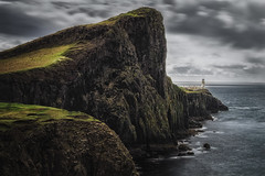 Westend of Skye (der_peste) Tags: scotland coast coastal rock neistpoint lighthouse clouds cloud cloudscape isleofskye skye ocean dramatic mood