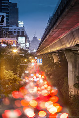After Work Light (Donykung) Tags: thailand bangkok light building cityscape longexposure wide twilight