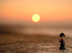 good morning neville (freemanphoto) Tags: good morning goodmorning neville longbottom harrypotter harry potter sunrise alba sole orange arancio bergamo mura autumn autunno wizard mago magia magician sky cielo redsky