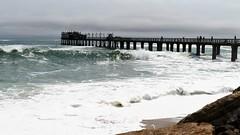 die lange Jette (marionkaminski) Tags: namibia afrika swakopmund water ocean atlantik küste bridge coast wellen waves seascape panasonic lumixfz1000 olle