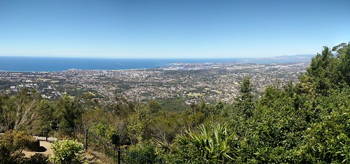 Wollongong and Port Kembla from Mount Keira