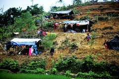 The First Few Huts (N A Y E E M) Tags: hill settlement camp rohingya refugee genocide exodus ethniccleansing refugeecamp coxsbazaar bangladesh carwindow rohingyagenocide saverohingya crimesagainsthumanity