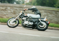 The kid with a bike (roger.w800) Tags: bike motorbike motorcycle harleydavidson harleydavidsonsportster 883sportster sportster883