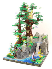 Fairy Tree House (randomvector1) Tags: lego faerie fairy moc treehouse tree
