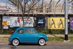 Footscray (Westographer) Tags: footscray melbourne australia westernsuburbs suburbia streetscape constructionsite fiat fiatbambina500 whitewalltyres parked